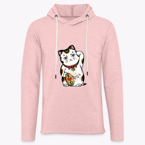 Love Lucky Cat - Light Unisex Sweatshirt Hoodie