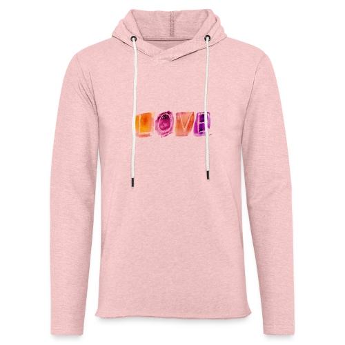 Love - Sweat-shirt à capuche léger unisexe