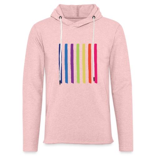 Linjer - Let sweatshirt med hætte, unisex