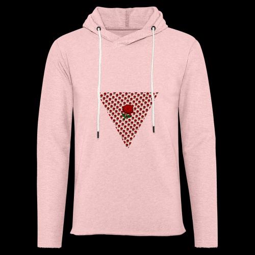 Dreieck Rose - Leichtes Kapuzensweatshirt Unisex