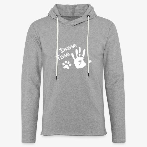 Dream Team Hand Hundpfote - Leichtes Kapuzensweatshirt Unisex
