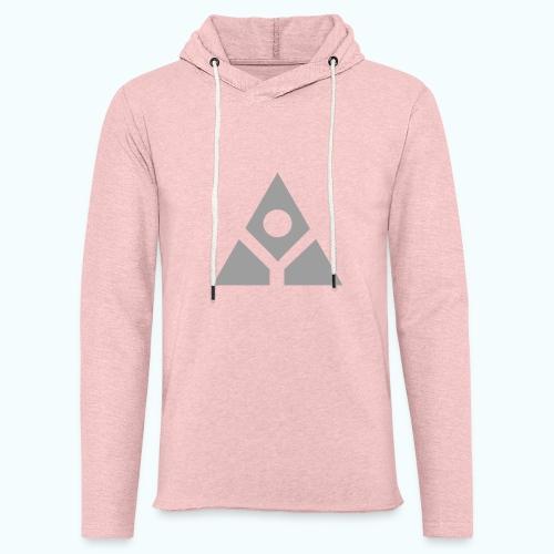 Sacred geometry gray pyramid circle in balance - Light Unisex Sweatshirt Hoodie