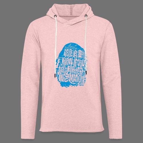 Fingerprint DNA (blue) - Leichtes Kapuzensweatshirt Unisex