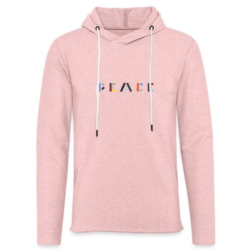 Peace på skrift - Let sweatshirt med hætte, unisex