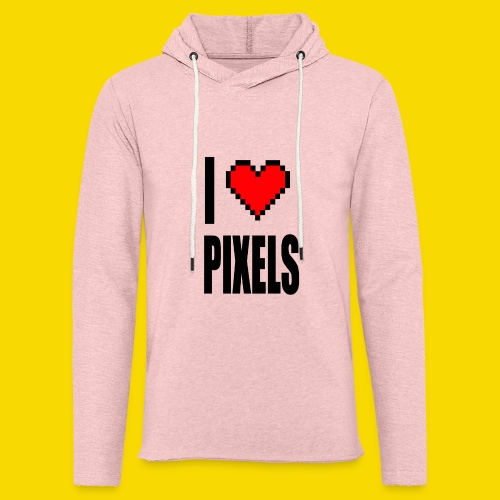 I Love Pixels - Lekka bluza z kapturem