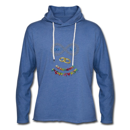 You and me Forever - Sweat-shirt à capuche léger unisexe