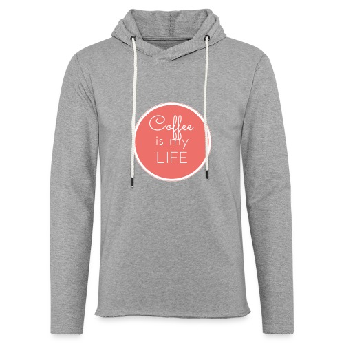 Coffee is my life - Sudadera ligera unisex con capucha