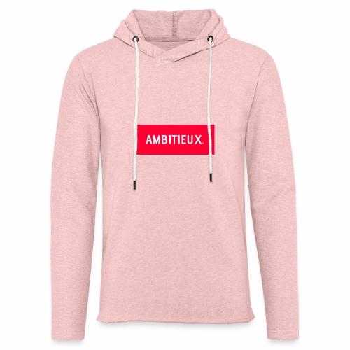 AMBITIEUX - Sweat-shirt à capuche léger unisexe