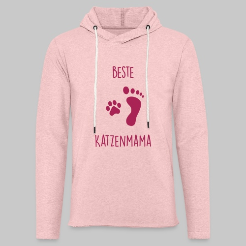 Beste Katzenmama - Leichtes Kapuzensweatshirt Unisex