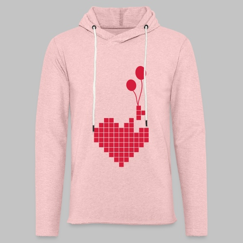 heart and balloons - Light Unisex Sweatshirt Hoodie