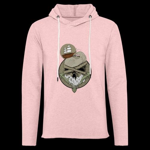 Ancre skull - Sweat-shirt à capuche léger unisexe