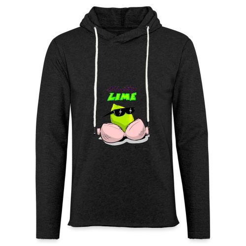 Slutty Lime - Let sweatshirt med hætte, unisex