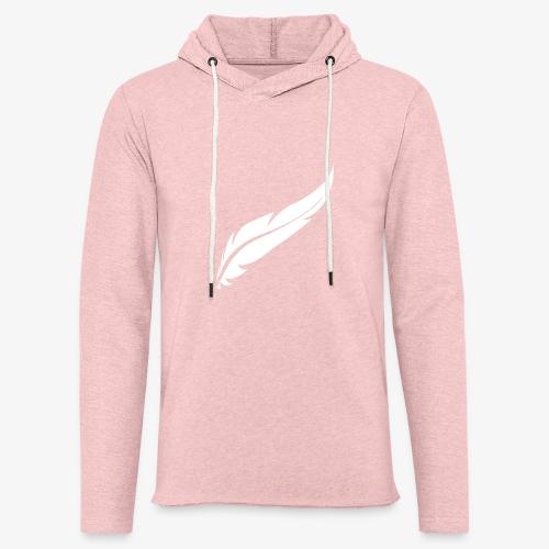 logo plume white - Sweat-shirt à capuche léger unisexe