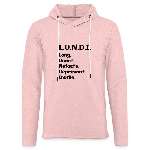 Le lundi - Sweat-shirt à capuche léger unisexe