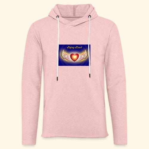 Flying Heart - Leichtes Kapuzensweatshirt Unisex