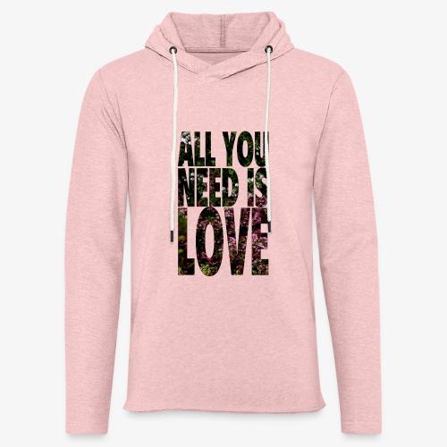 All You need is love - Lekka bluza z kapturem