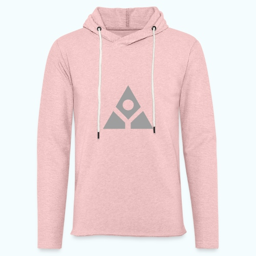 Sacred geometry gray pyramid circle in balance - Light Unisex Sweatshirt Hoodie