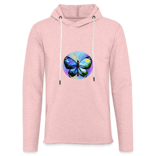Blue Butterfly nature amazon - Sudadera ligera unisex con capucha