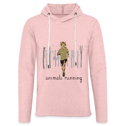 Tigre running - Sweat-shirt à capuche léger unisexe