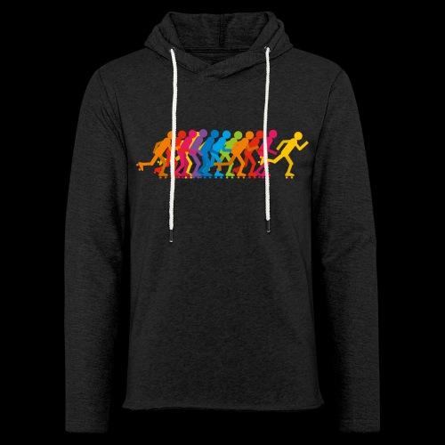 Rollerskating silhouettes - Sweat-shirt à capuche léger unisexe