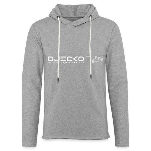 Djecko blanc - Sweat-shirt à capuche léger unisexe