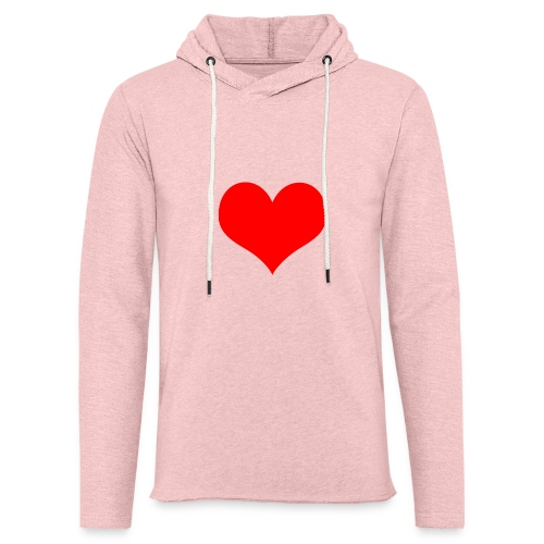 rotes Herz - Leichtes Kapuzensweatshirt Unisex