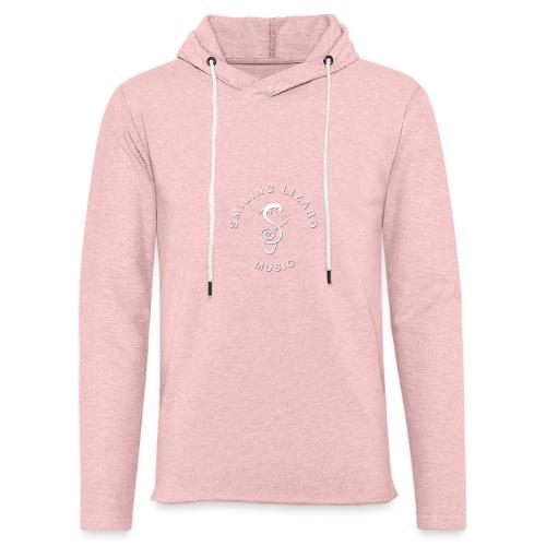 Smiling Lizard Music Logo weiß - Leichtes Kapuzensweatshirt Unisex