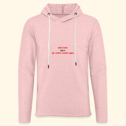 Good bye and thank you - Light Unisex Sweatshirt Hoodie