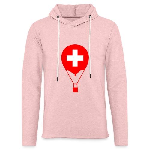 Gasballon im schweizer Design - Leichtes Kapuzensweatshirt Unisex