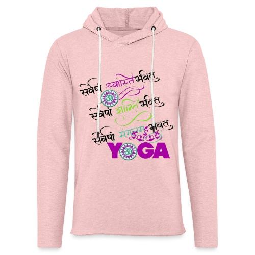 Yoga Sanscrit - Sweat-shirt à capuche léger unisexe