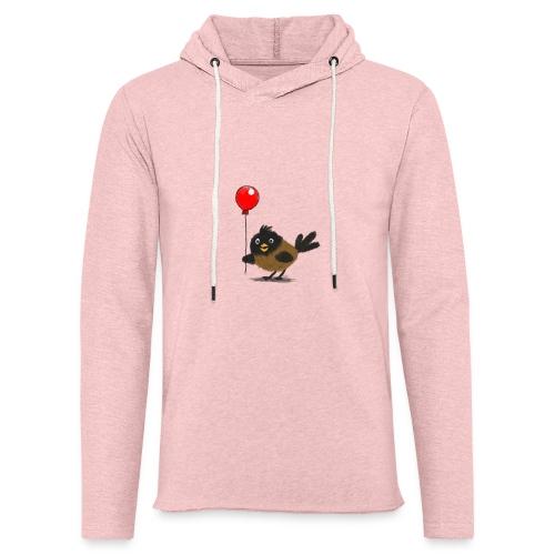 vogeltje met ballon - Lichte hoodie unisex