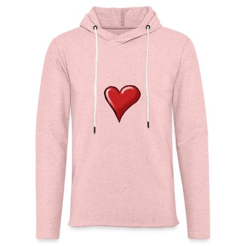 Love (coeur) - Sweat-shirt à capuche léger unisexe