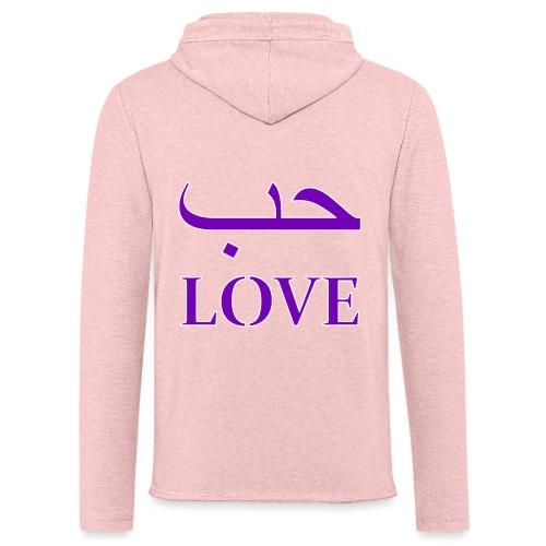 Hubun/Love (حب) - Lichte hoodie unisex