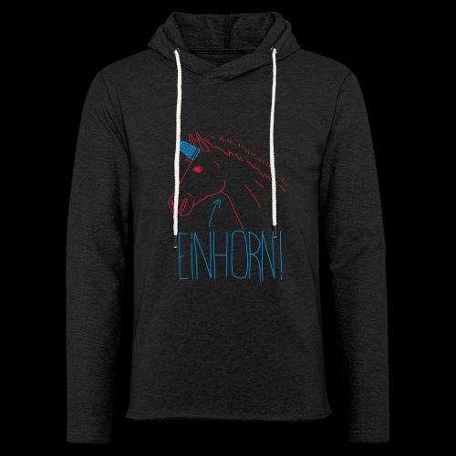 Einhorn - Leichtes Kapuzensweatshirt Unisex