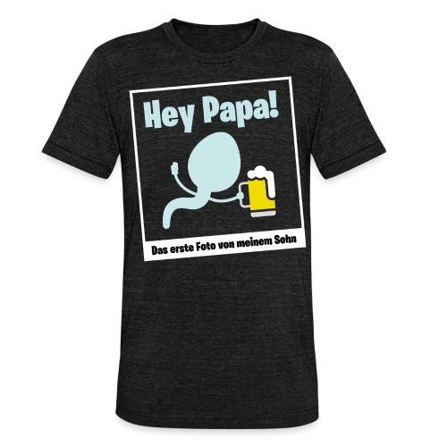 Geschenk für werdende Väter Bier Papa Schwanger - Unisex Tri-Blend T-Shirt von Bella + Canvas