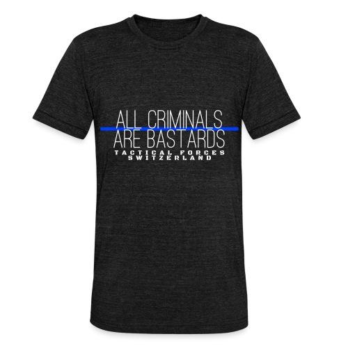 All Criminals Are Bastards - T-shirt chiné Bella + Canvas Unisexe