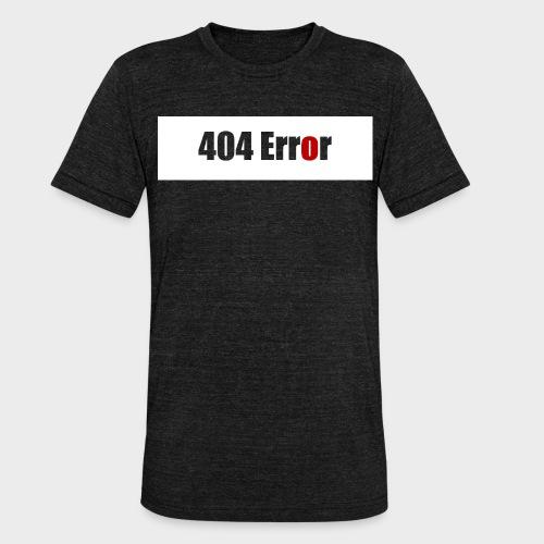 404 Error - Unisex Tri-Blend T-Shirt von Bella + Canvas