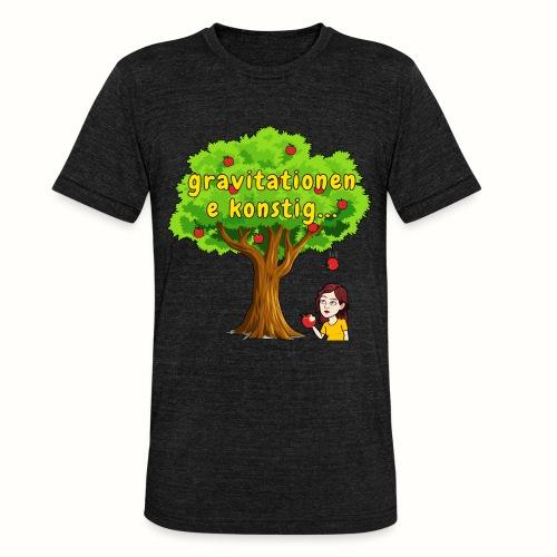 gravitationen e konstig - Triblend-T-shirt unisex från Bella + Canvas