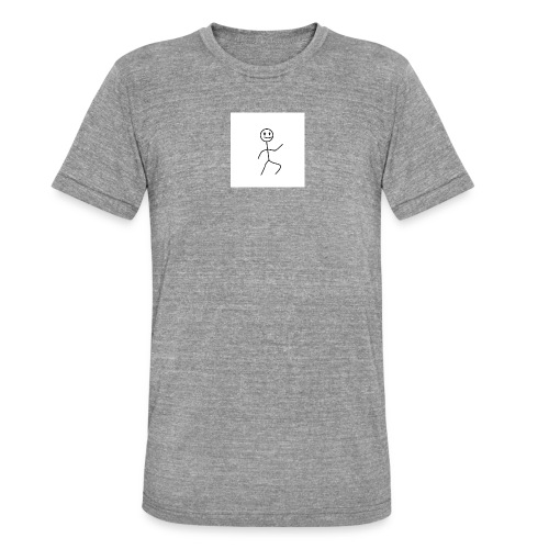 stick man t-shirt dance 1,0 - Unisex tri-blend T-shirt fra Bella + Canvas