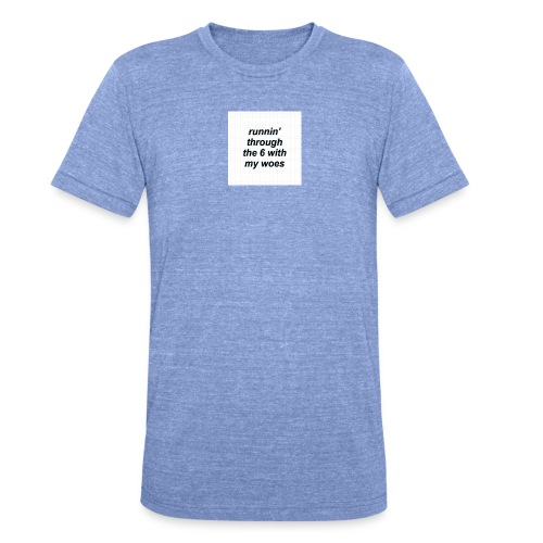 cap woes - Unisex tri-blend T-shirt van Bella + Canvas