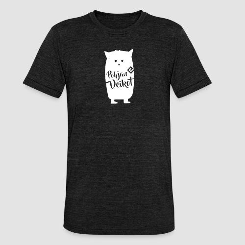 Veikko-pöllö valkoinen - Bella + Canvasin unisex Tri-Blend t-paita.