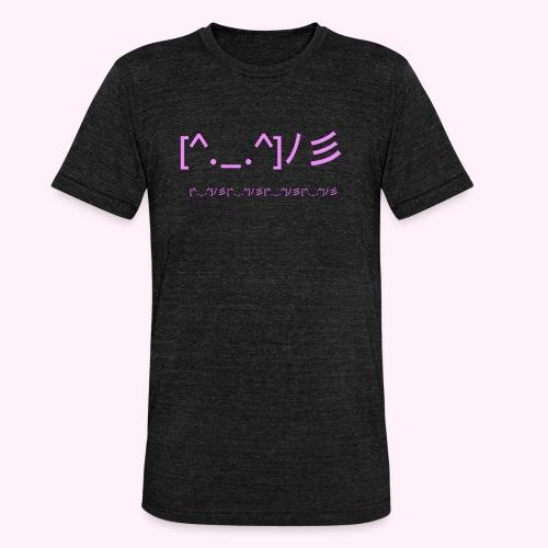 classic logo for regular people - Unisex tri-blend T-shirt fra Bella + Canvas