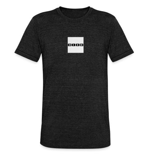black-rewind-play-pause-forward-t-shirts_design - Unisex tri-blend T-shirt van Bella + Canvas