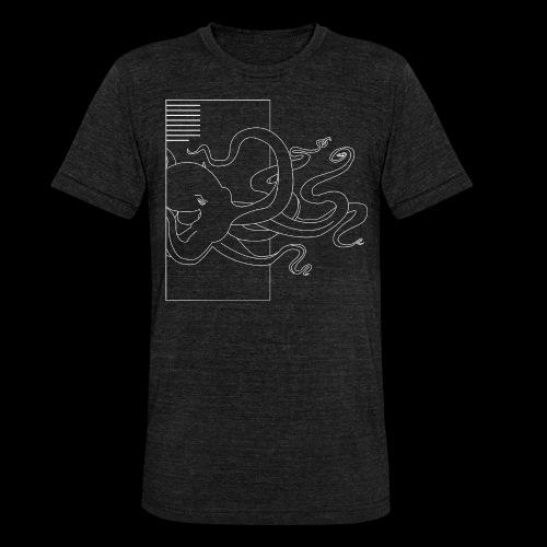 Tintenfisch-Logo Weiss - Unisex Tri-Blend T-Shirt von Bella + Canvas