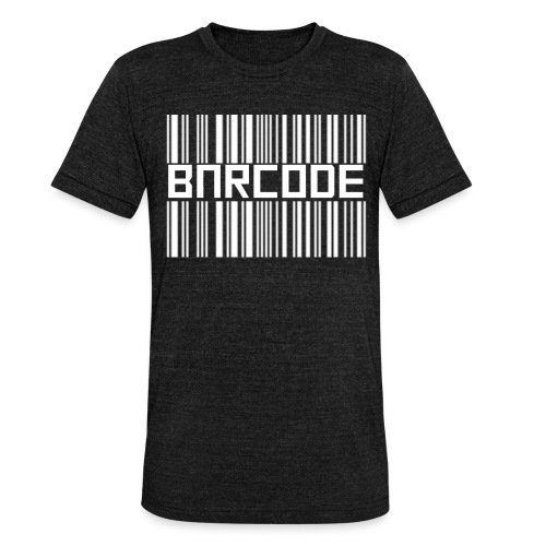 BARCODE BLACK - Unisex Tri-Blend T-Shirt by Bella & Canvas