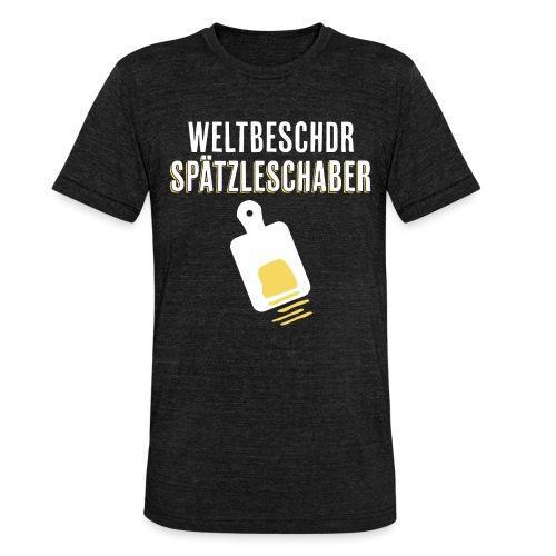 Spätzleschaber schwäbisches Geschenk kochen essen - Unisex Tri-Blend T-Shirt von Bella + Canvas