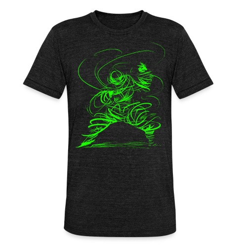 Kung Fu Sorcerer / Kung Fu Wizard - Unisex Tri-Blend T-Shirt by Bella & Canvas