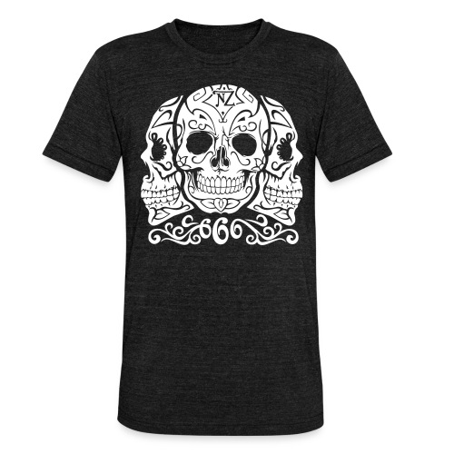 Skull Dia de los muertos - T-shirt chiné Bella + Canvas Unisexe