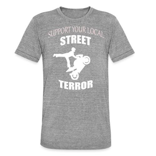 Streetterror Support - Bella + Canvasin unisex Tri-Blend t-paita.