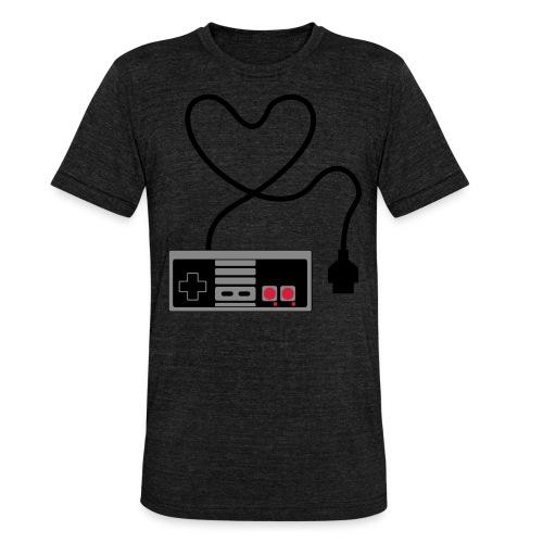 NES Controller Heart - Unisex Tri-Blend T-Shirt by Bella & Canvas